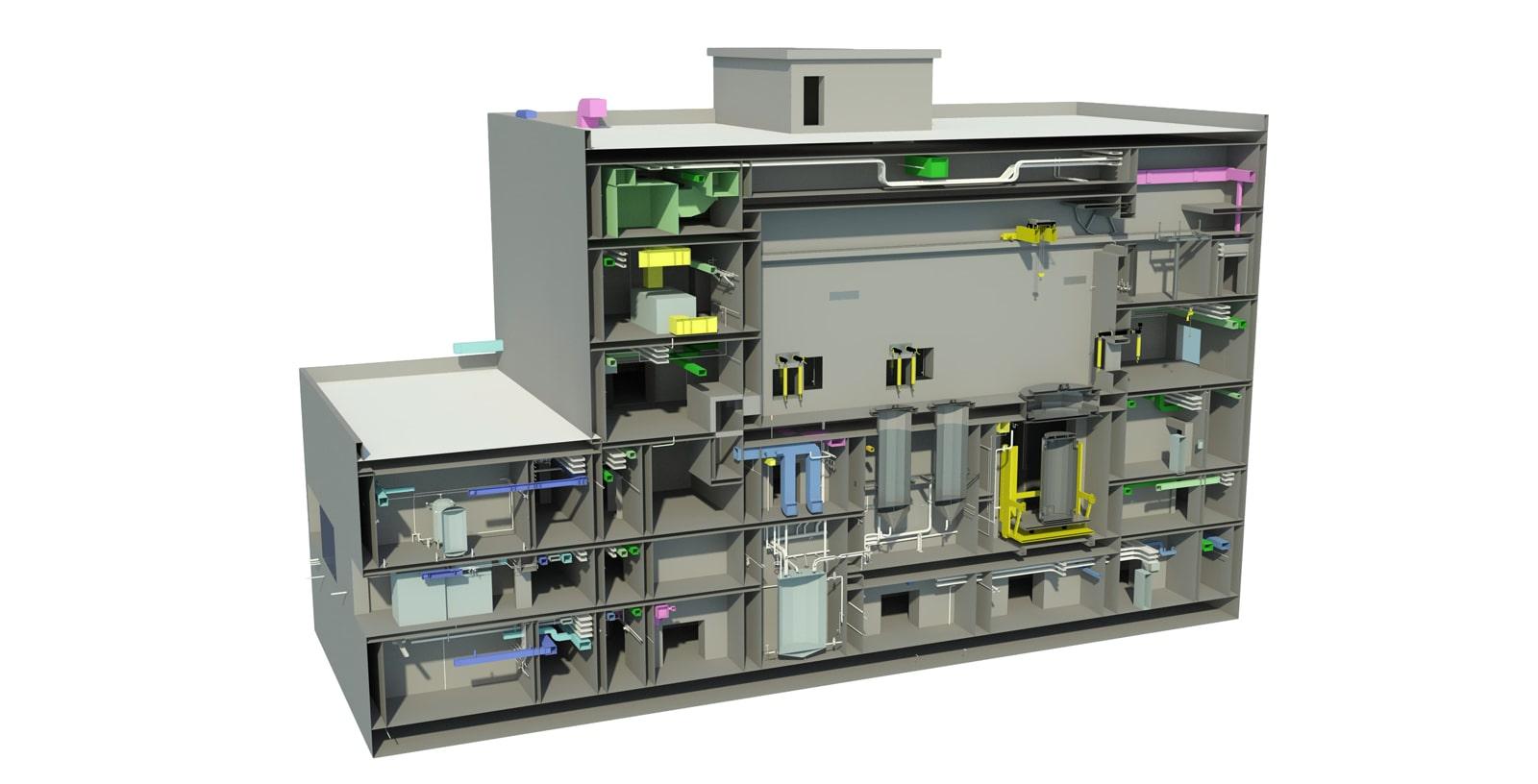 Idom_Nuclear_Services_ENRESA_Design_Engineering_Cask_Maintenance_Workshop_TMC_Central_Spent_Fuel_Storage_Facility_ATC_3D_building