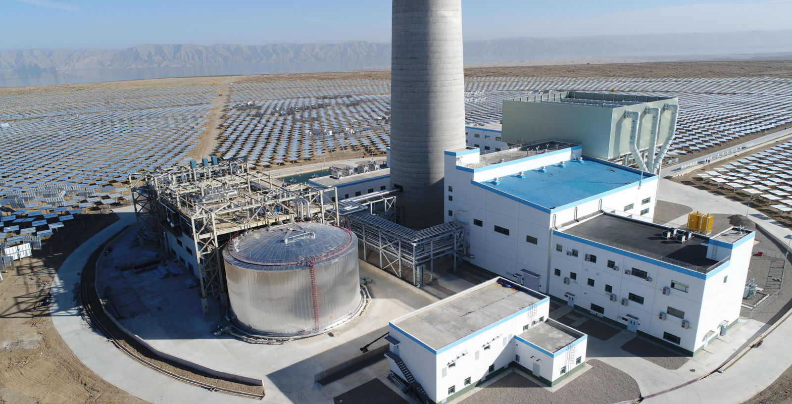 CSP_ Plants_Tower_Molten_Salts_Thermal Storage System_Gonghe_China_IDOM_00