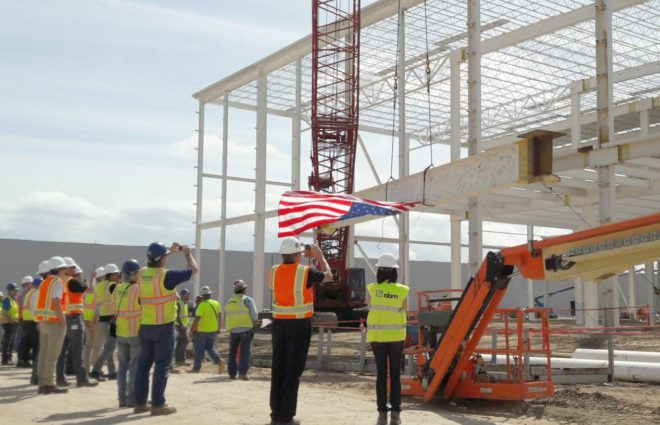 Topping out Mercedes-Benz Vans Plant, North Charleston USA