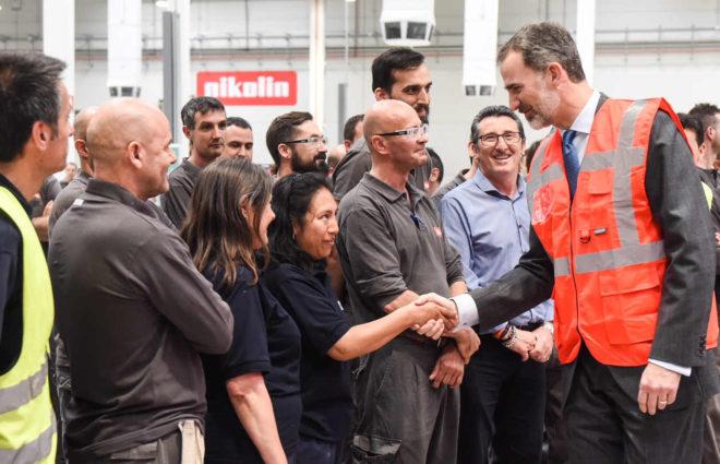 King Felipe VI visited Pikolin's new facility in Saragossa