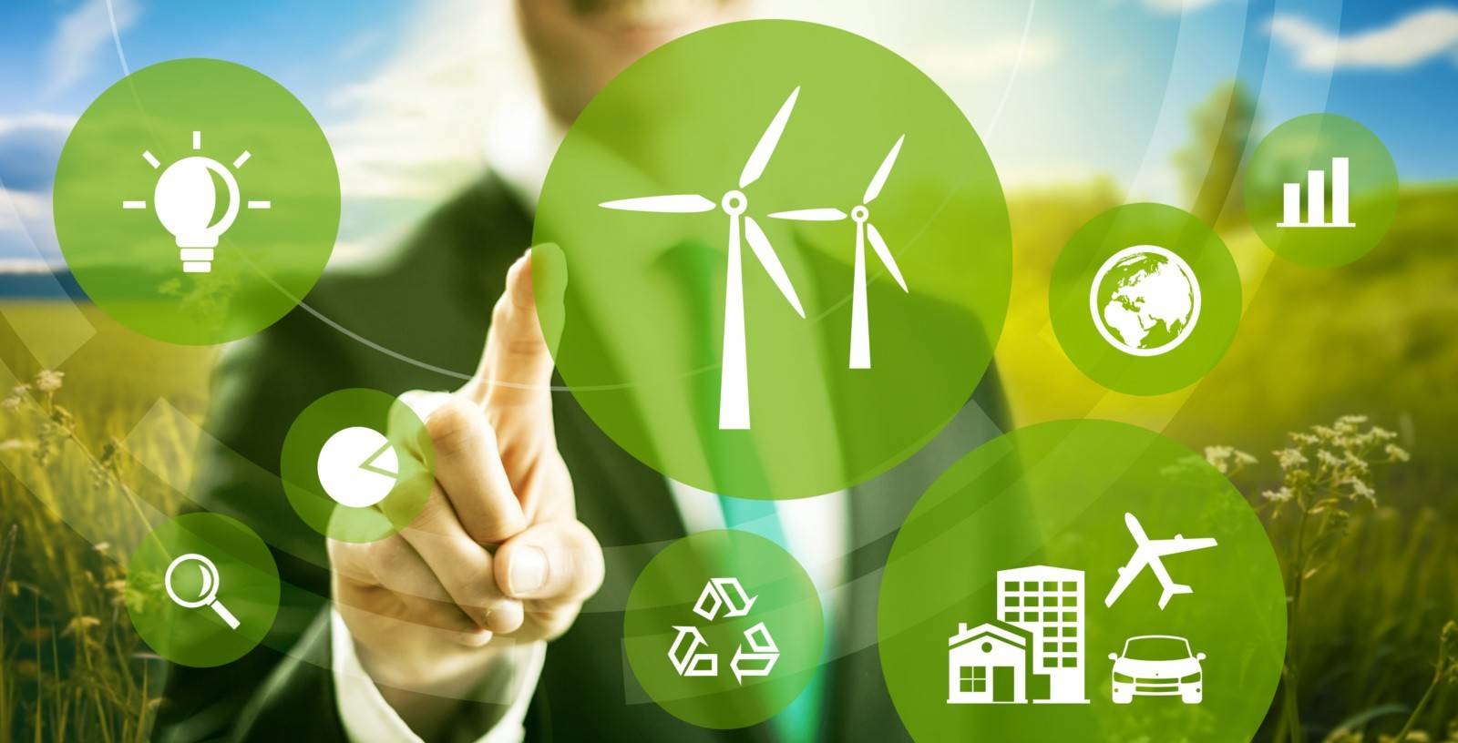 Wind energy and power business model concept