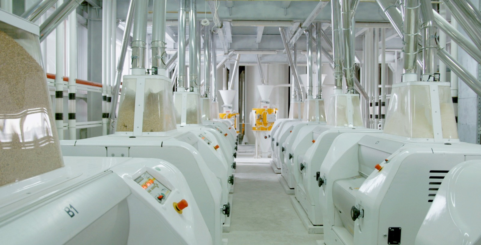 Electrical mill machinery for wheat flour production