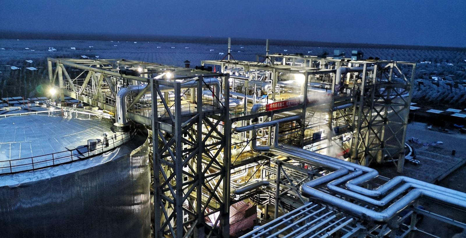 CSP_Plants_Thermal Storage System_China_Gansu_Yumen_IDOM_01