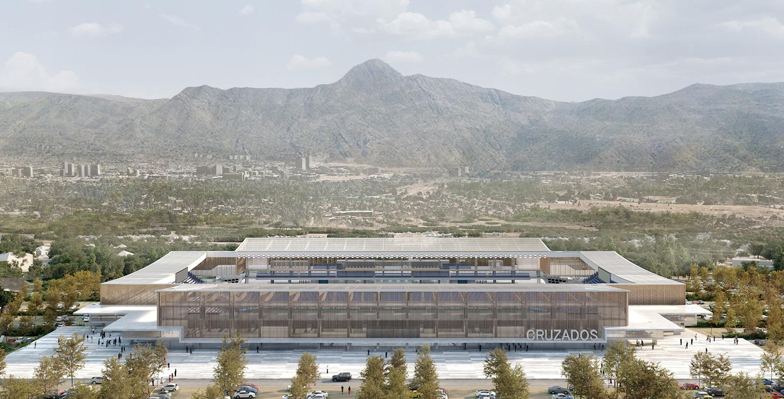 Cruzados_Stadium_aerial_frontal_view-IDOM_3