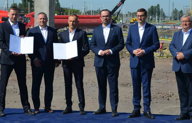 Signing of the agreement for the Warsaw-Lódź High-Speed Line