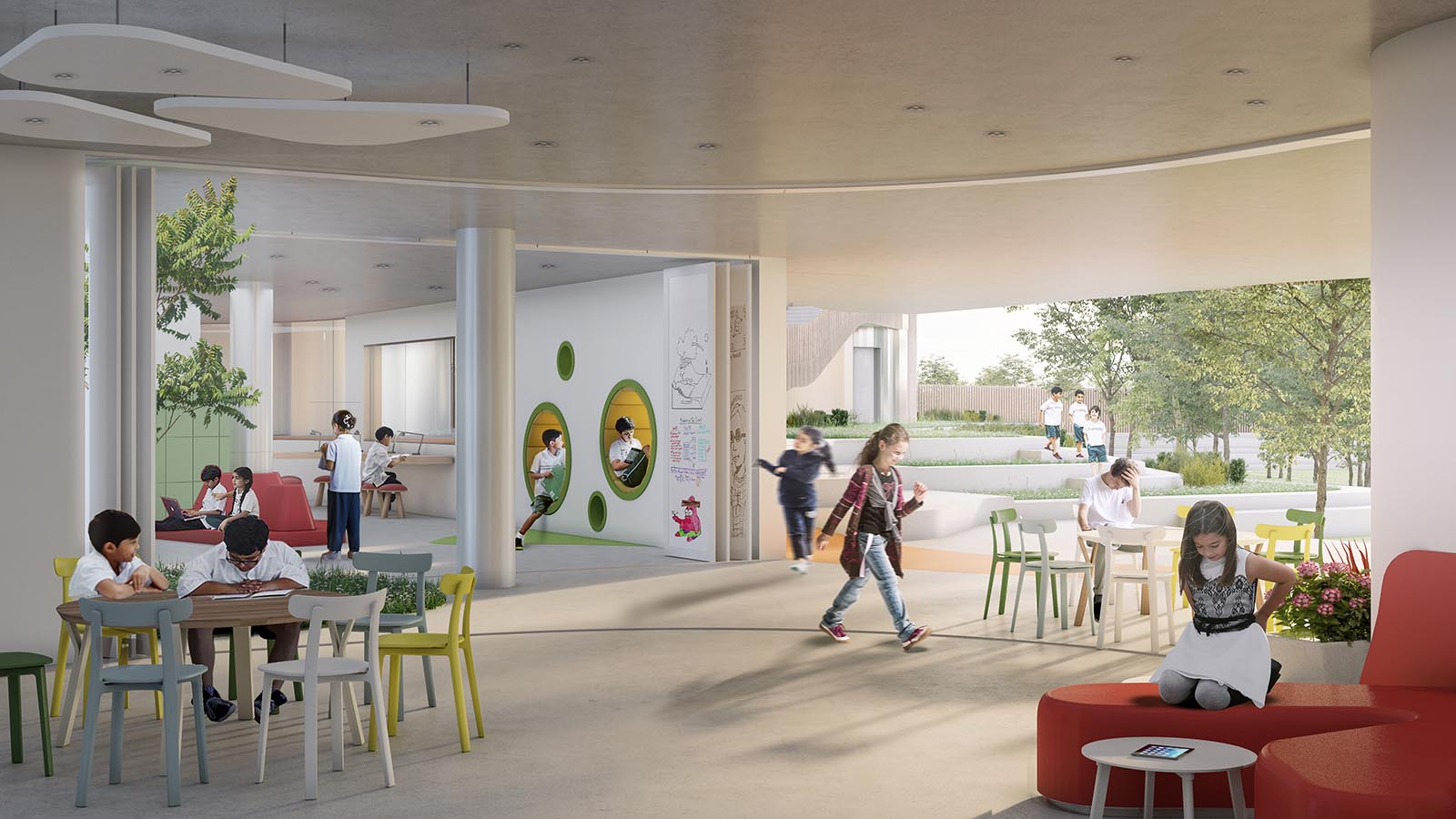 Open learning space interior view_Markham College_IDOM_Rosan Bosch
