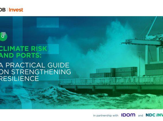 Riesgo climático y puertos: una guía práctica para fortalecer la resiliencia